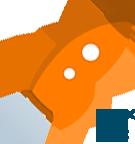 Logo www.srovnavacpujcek.cz - Vesmírná Raketa